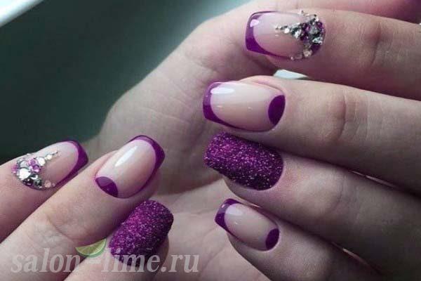 Дизайн Ногтей Синий С Блестками Фото