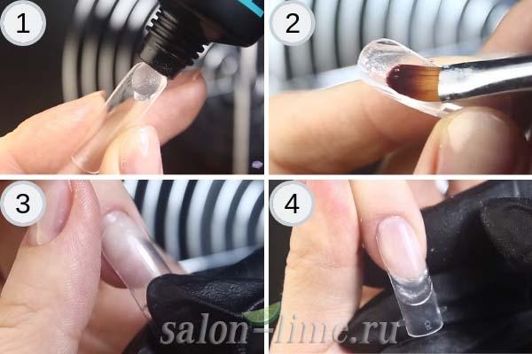 Пошаговое наращивание ногтей с помощью верхних форм - часть 1