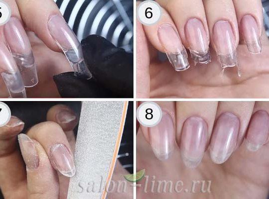 Пошаговое наращивание ногтей с помощью верхних форм - часть 2
