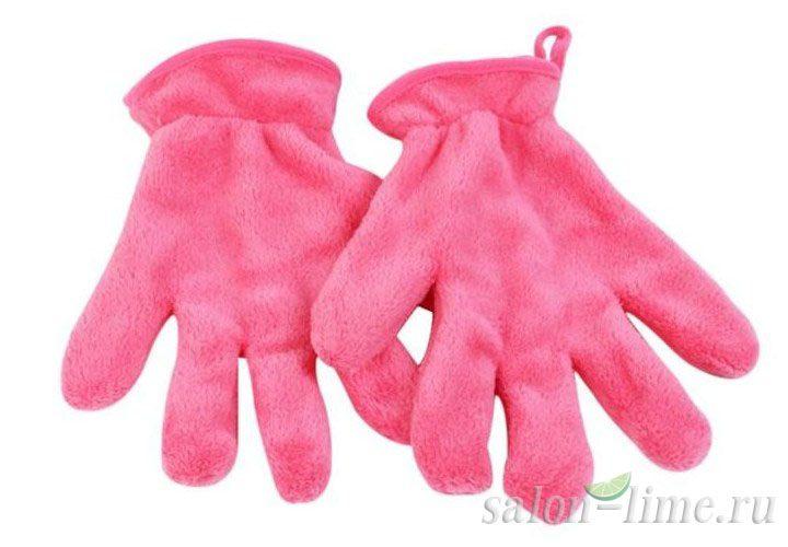 Полотенце для демакияжа в виде перчаток