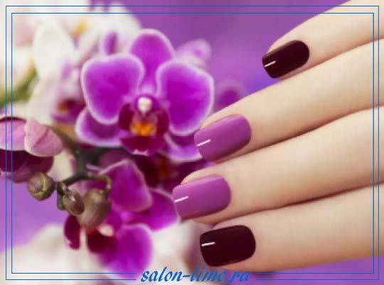 Достойно королевы! Изумительные идеи модного маникюра фиолетового цвета
